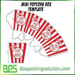mini popcorn box template design