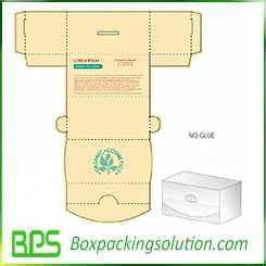 no glue folding box design