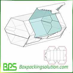 open from side packaging box template design