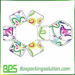 oxtangon shaped box with lid design template