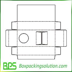 packaging box with window templates