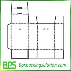 paperboard box with hangtab template