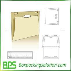 paperboard file folder die line template