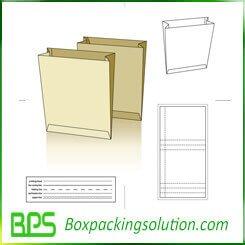 paperboard folder die line template