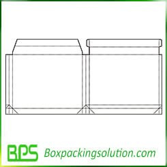 paperboard folding box template