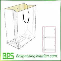 paperboard shopping bag design template