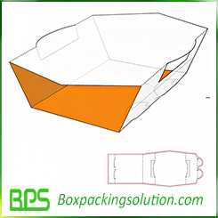 paperboard tray design template