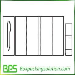 pen packaging box template design