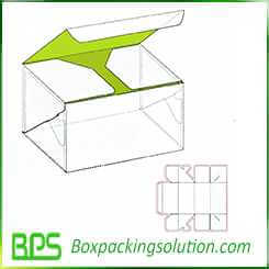 personalized flat bottom packaging box design