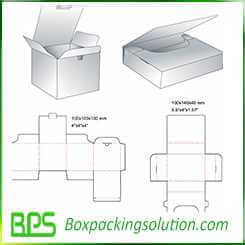 personalized packaging box template