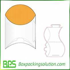 pillow box design template