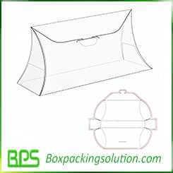 pillow shape box design template