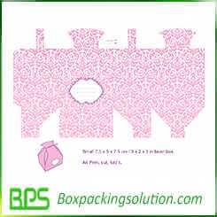pink paperboard gift boxes