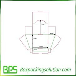 Polygon packaging box templates