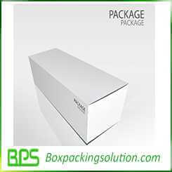 pure white packaging design template