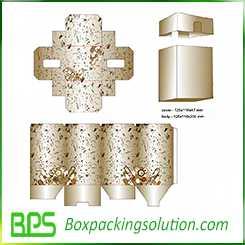 rigid cardboard box with cover design template