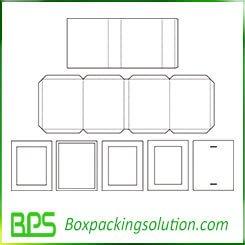 rigid cardboard piece template
