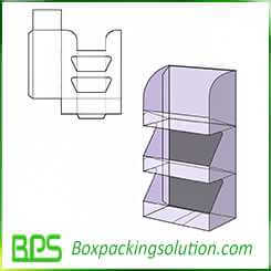 rigid corrugated displays design template