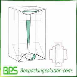 rigid corrugated packaging box design template