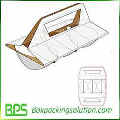 rigid paperboard cup holder cup take away design template