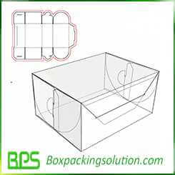 rigid paperboard gift packaging box design template