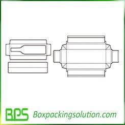 rigid wine box template design