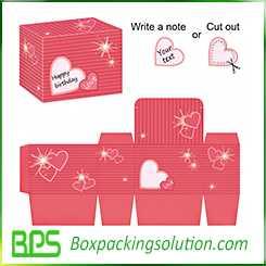 romantic designed box template