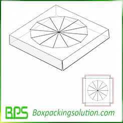 round cardboard insert