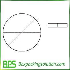 round cardboard piece die cut template
