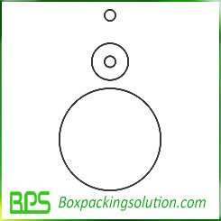 round paperboard piece template