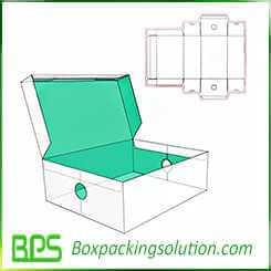 shoe box hinged lid packaging box design