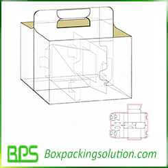 six pack beer carrier box packaging design template