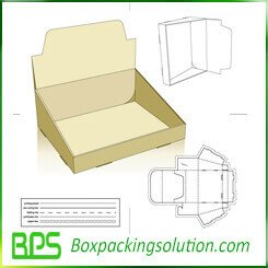 small display box die line template design