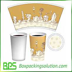 small size coffee cup design template
