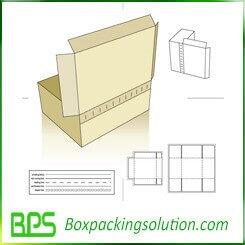 tearing off cardboard mailer box die line template
