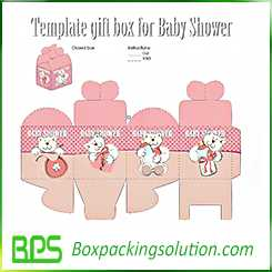 template gift boxes for baby shower