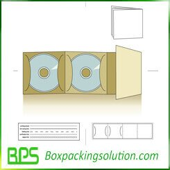 three pack CD folder die line design