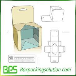 toys packaging box die line template