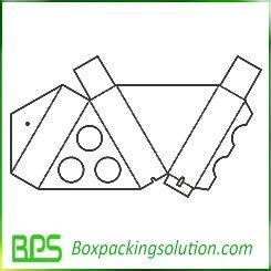 triangle pizza box design templates