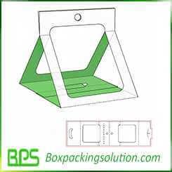triangle shape cardboard holder design template