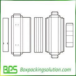 underwear folding box template