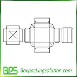 underwear packaging box template