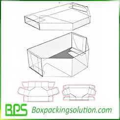 unique shape box with lid design