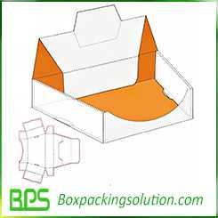 unique shape display box design templates