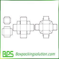 virgin paperboard box template