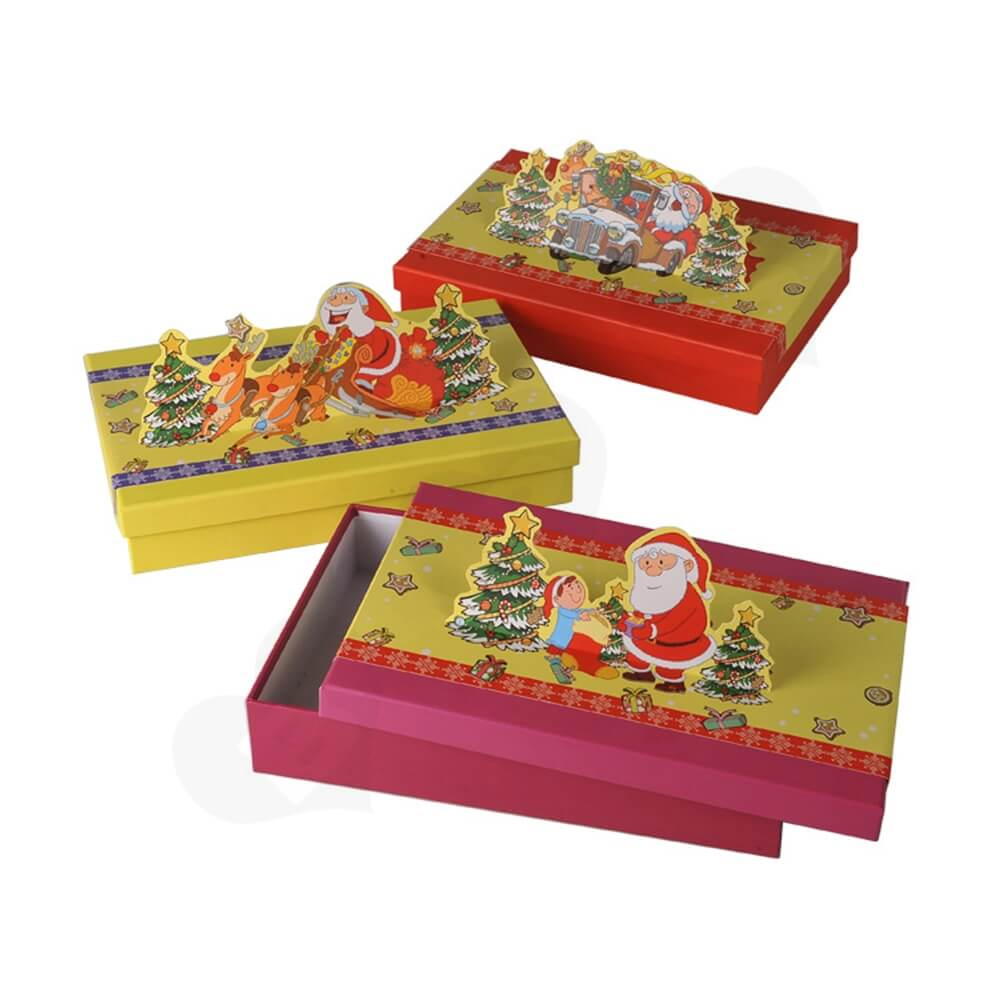 3D Effect Christmas Gift Packaging Gift Box Side View One