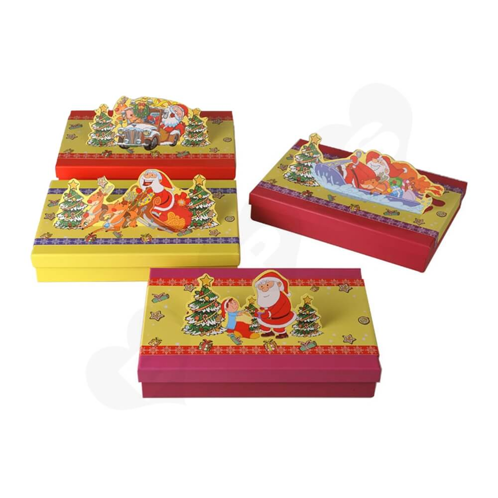 3D Effect Christmas Gift Packaging Gift Box Side View Six
