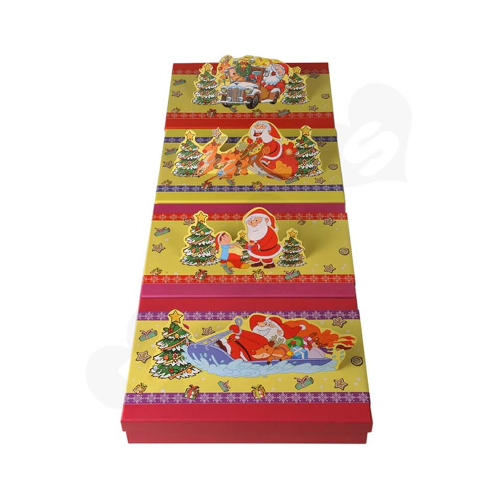 3D Effect Christmas Gift Packaging Gift Box Side View Three