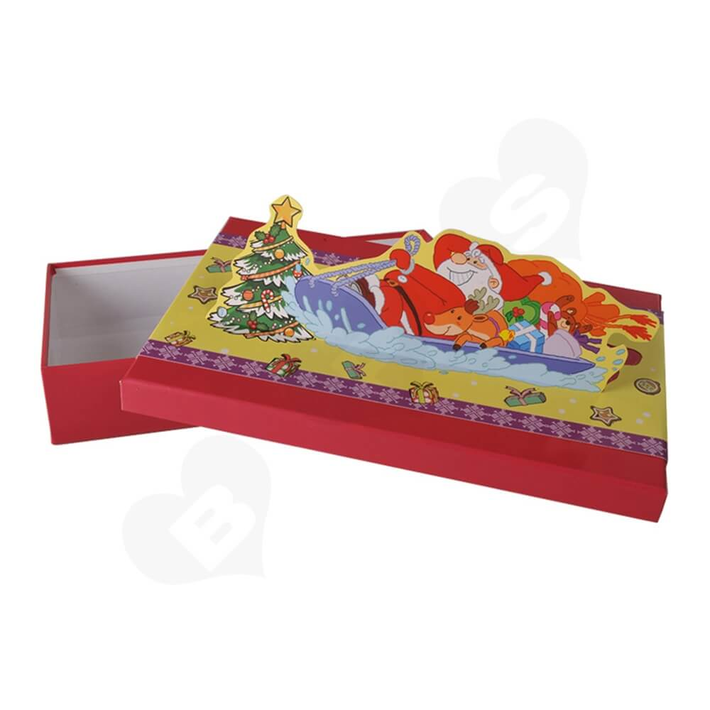 3D Effect Christmas Gift Packaging Gift Box Side View Two