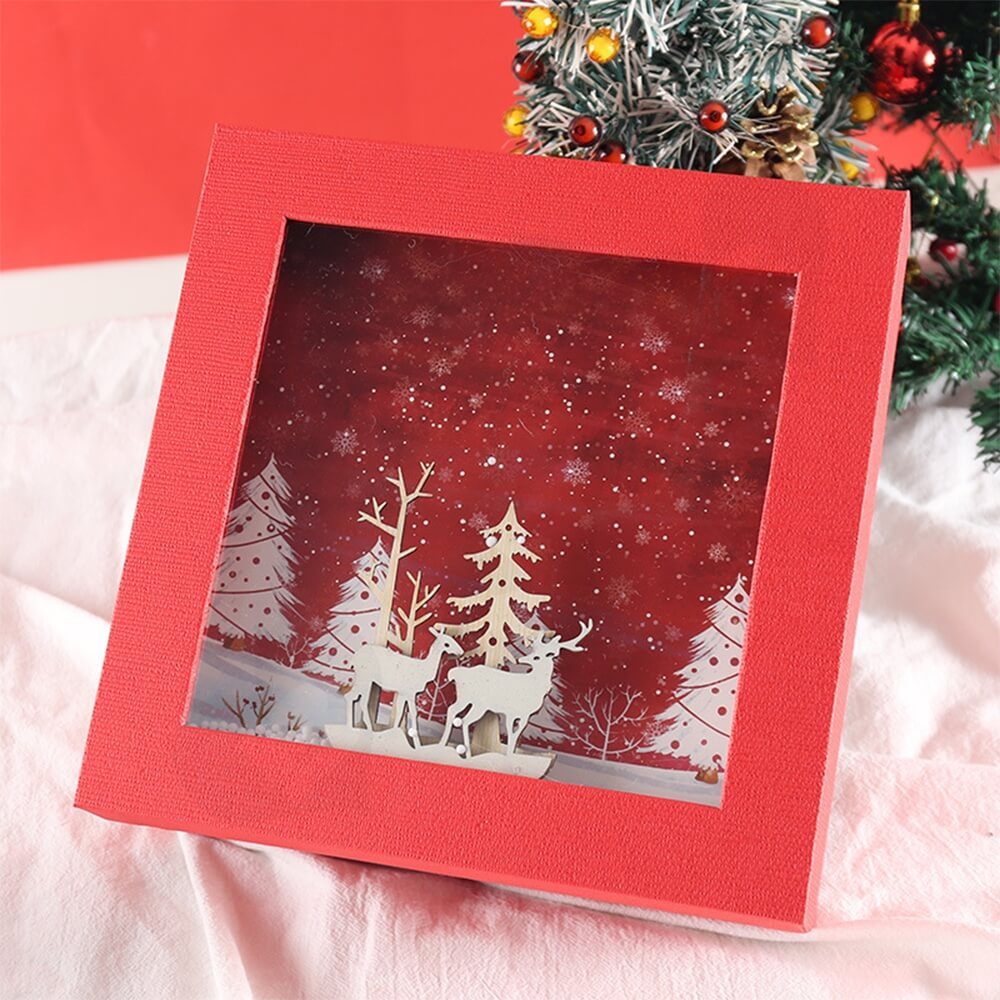 3D Effect Christmas Season Apparel Packaging Box Side View Four